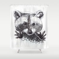 racoon Shower Curtains featuring Racoon by Faustine BLESSON
