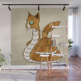 Cat Snake Wall Mural
