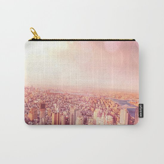 New York City Skyline of Light Carry-All Pouch