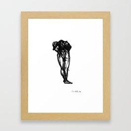 Boceto gestual 10 Framed Art Print