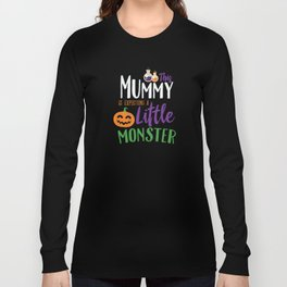 This Mummy is Expecting A Little Monster Halloween Long Sleeve T-shirt