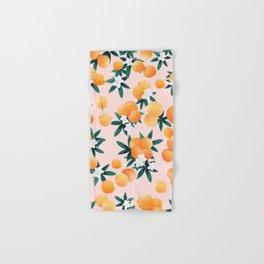 Orange Twist Flower Vibes #7 #tropical #fruit #decor #art #society6 Hand & Bath Towel