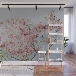 Pastel Pink Magnolias Wall Mural