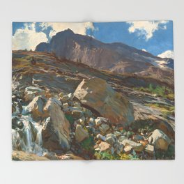 Simplon Pass Oil Painting by  John Singer Sargent Throw Blanket