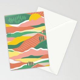 Tuscany summer colorblock Stationery Cards