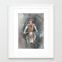 moto Framed Art Prints featuring Moto by Bluedogrose