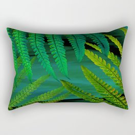 Forest Fern Green Rectangular Pillow