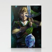 sword Stationery Cards featuring Skyward Sword by EB & JJ