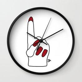 Miley Cyrus Foam Finger Wall Clock