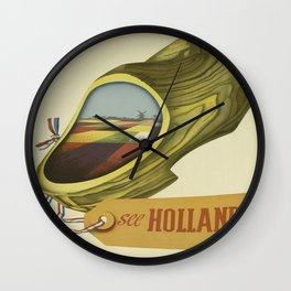 Vintage poster - Holland Wall Clock