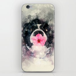 Dog with Flower iPhone Skin