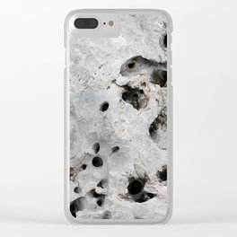 Stone is a hole Clear iPhone Case