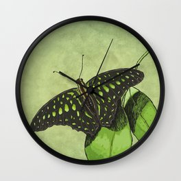 Nature's Camouflage Butterfly Wall Clock