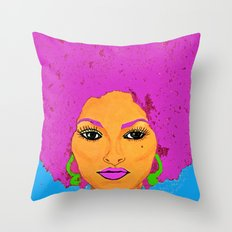 Pam Grier aka Jackie Brown c 1970's Diva Throw Pillow