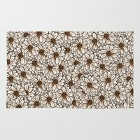 daisies Area & Throw Rugs featuring Daisies by Marta Li