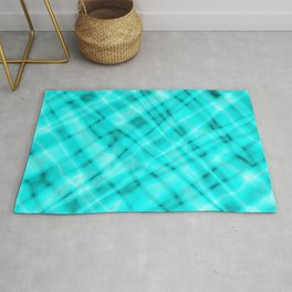 Pastel metal mesh with light blue intersecting diagonal lines and stripes. Rug