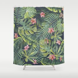 Palm Leaves Pattern 13 Shower Curtain