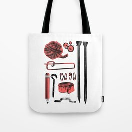 Knitting Kit Tote Bag