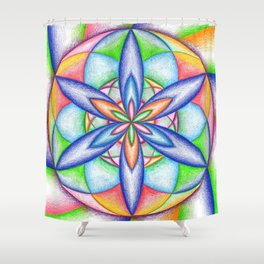 Expanding Flower Power - The Rainbow Tribe Collection Shower Curtain