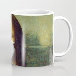 Mona Lisa with Respirator Mask Coffee Mug