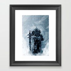 A Frosty King Framed Art Print