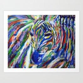 Zesty Zebra Art Print