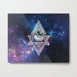 The All Seeing Eye Roll - Deep Space Metal Print