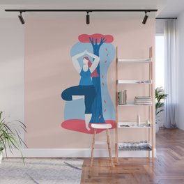 Yoga Girls 4 The Tree Pose Lady Wall Mural