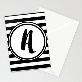 A Striped Monogram Stationery Cards