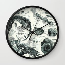 Sketchbook - Fossils Wall Clock