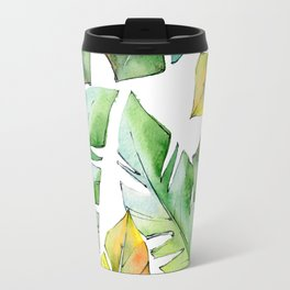 Tropical Leaves Travel Mug