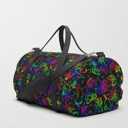 Schnauzer Sketch Rainbow Duffle Bag