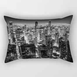 Nighttime Chicago Skyline Rectangular Pillow