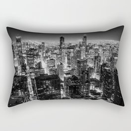 Chicago Skyline at Night Rectangular Pillow