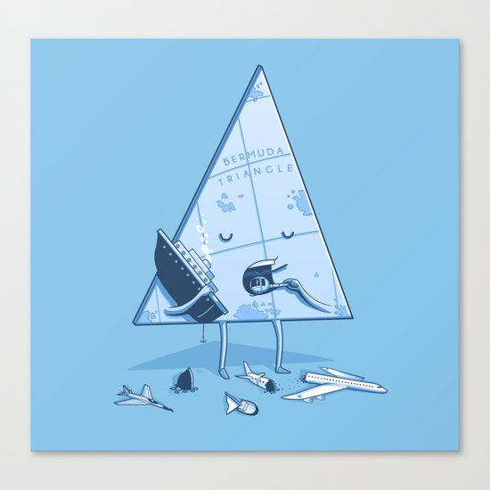 Bermuda triangle Canvas Print