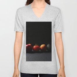 Pear Apple Tomato Orange Avocado Unisex V-Neck