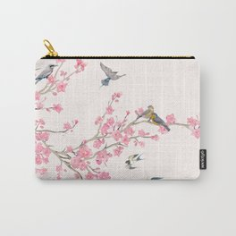 Birds and cherry blossoms Carry-All Pouch