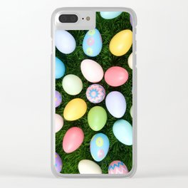 Easter Egg Extravaganza Clear iPhone Case