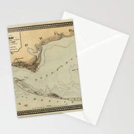 Map of Pensacola 1861 Stationery Cards