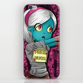 Free Hugs Walking Dead Zombie Girl iPhone Skin