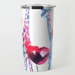 Giraffes and Poppies Travel Mug