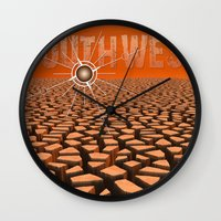 southwest Wall Clocks featuring Southwest by Phil Perkins