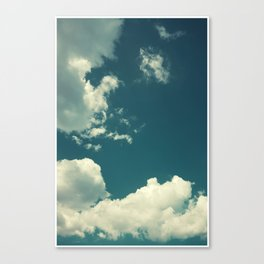 Clouds On Blue Sky Photography Canvas Print