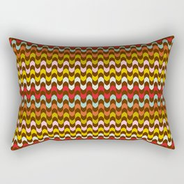 Mod Stripe Pattern Rectangular Pillow