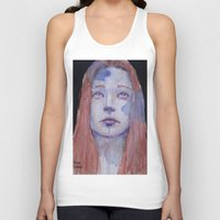 redhead Tank Tops featuring Redhead by SirScm