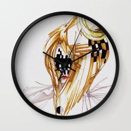 CHECKERS FACE Wall Clock