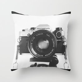 Olympus Camara Throw Pillow