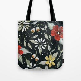 Southwest Style Oval Floral Gouache Painting Tote Bag
