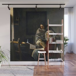 Johannes Vermeer - Girl Interrupted at her Music Wall Mural