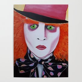 Mad Hatter Painting Poster